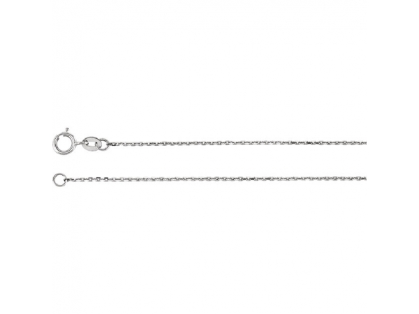Necklaces - 10K White Gold Chain Necklace