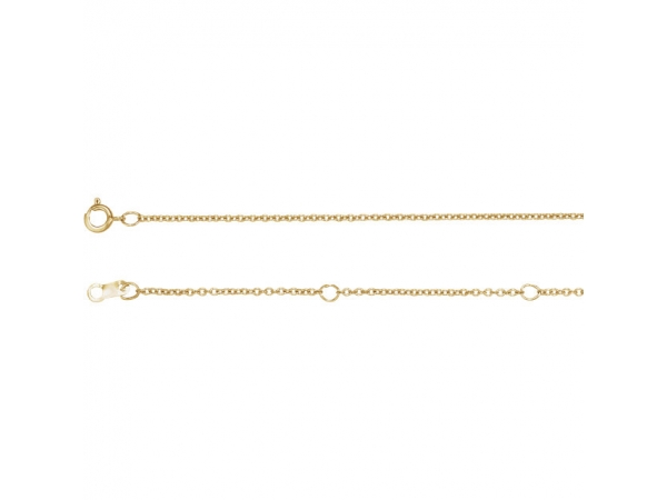 Necklaces - 1 mm Solid Cable Chain