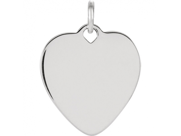 Sterling Silver Charm - Polished Sterling Silver Engravable Charm