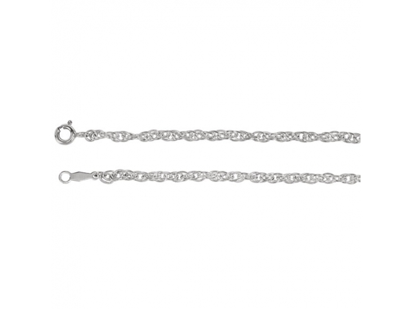 2.5mm Sterling Silver Rope Chain  by Stuller