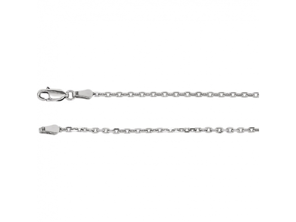 14K White Gold Chain Bracelet by Stuller