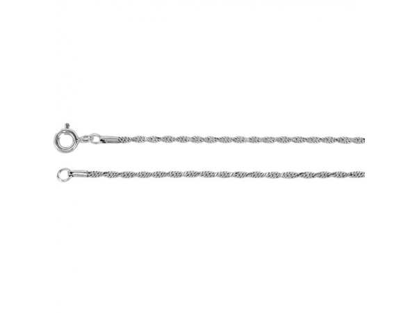1.5mm Diamond Cut Rope Chain - 1.5mm Diamond Cut Rope Chain