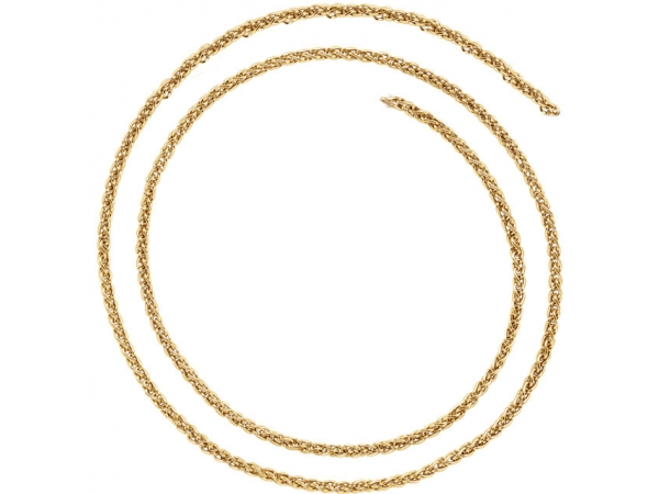 14K Yellow Gold Chain Necklace by Stuller