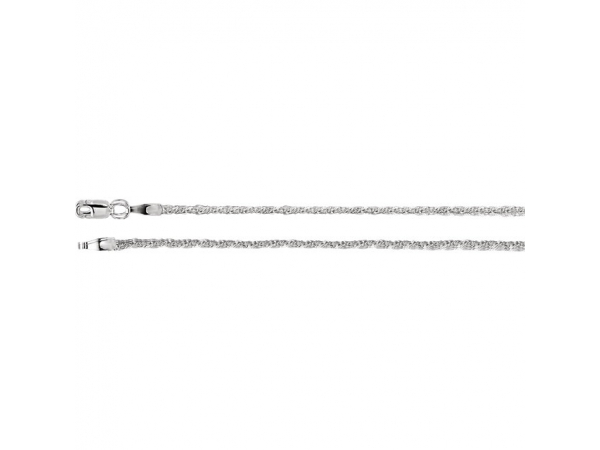 1.5mm Sterling Silver Twisted Wheat Chain  - 1.5mm Sterling Silver Twisted Wheat Chain