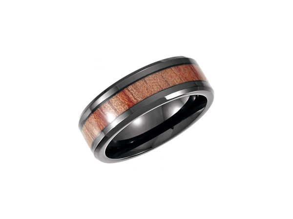 Cobalt Casted Band with Inlay by Stuller