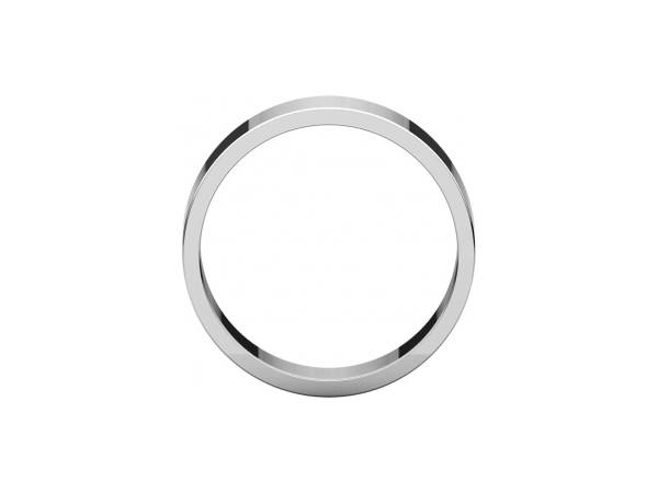 Ladies Wedding Bands - 8mm Wedding Band - image 2