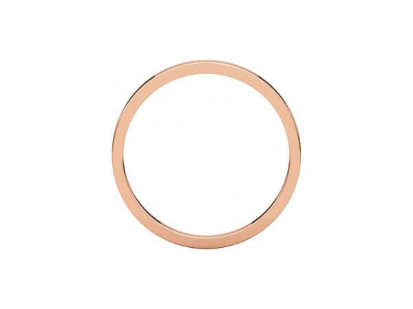 Wedding Rings - 3mm Wedding Band - image 2