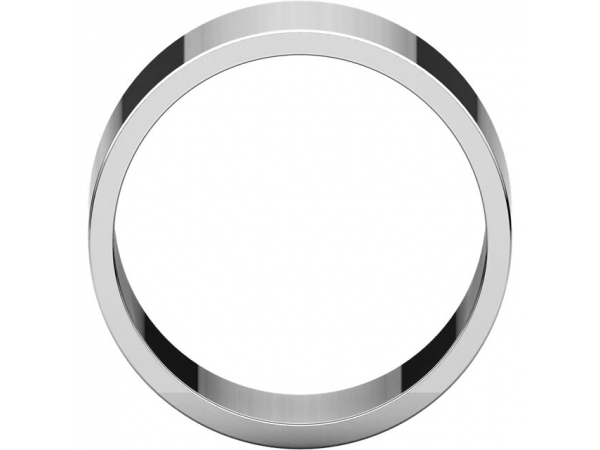 Ladies Wedding Bands - 10mm Wedding Band - image #2