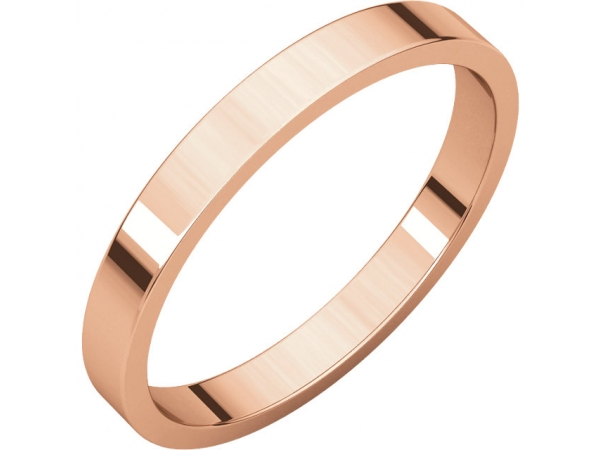 Precious Metal Wedding Bands - 2.5mm Wedding Band