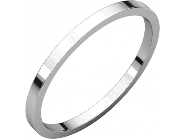 1.5mm Wedding Band - Sterling Silver 1.5mm Engravable Wedding Band