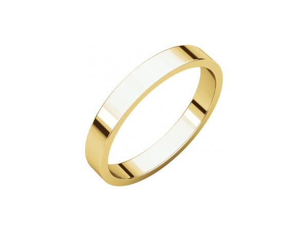 3.5mm Wedding Band - 14K Yellow Gold 3.5mm Engravable Wedding Band