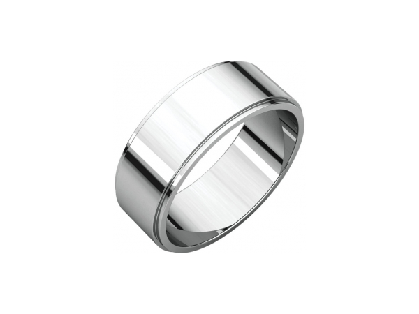 Ladies Wedding Bands - 7mm Wedding Band