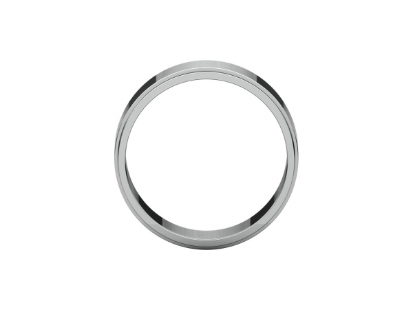 Ladies Wedding Bands - 7mm Wedding Band - image #2