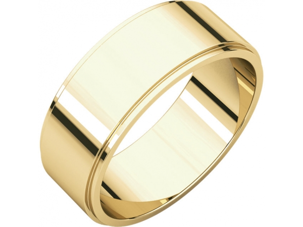 7mm Wedding Band - 18K Yellow Gold 7mm Wedding Band