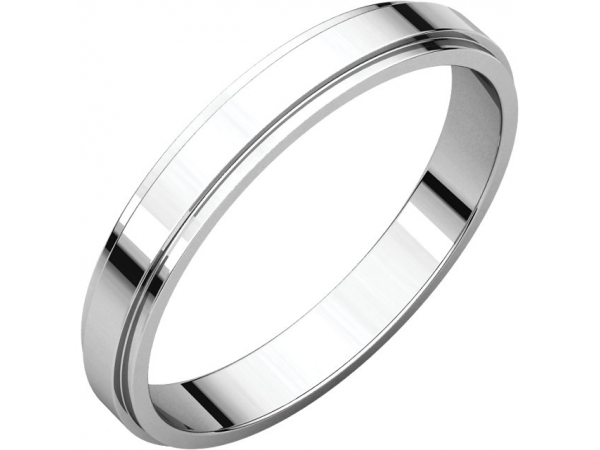 Wedding & Anniversary Bands - Flat Edge Bands