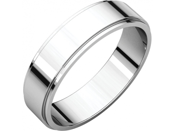Engagement Rings - Flat Edge Bands