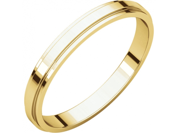 Mens Wedding Bands - 2.5mm Wedding Band