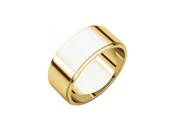 9mm Wedding Band - 14K Yellow Gold 9mm Wedding Band