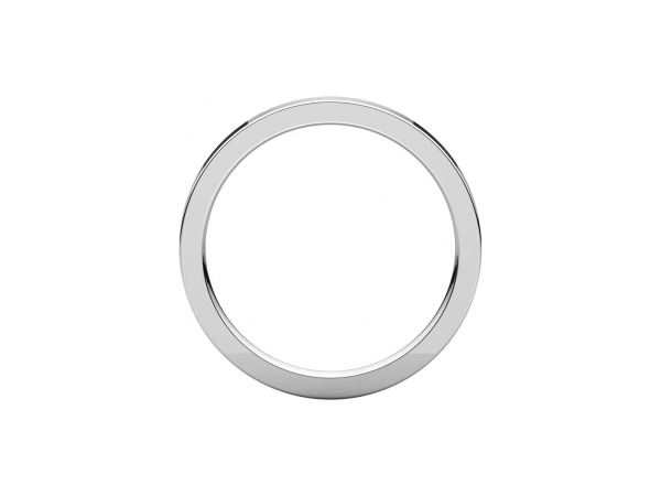 Mens Wedding Bands - 2mm Wedding Band - image #2