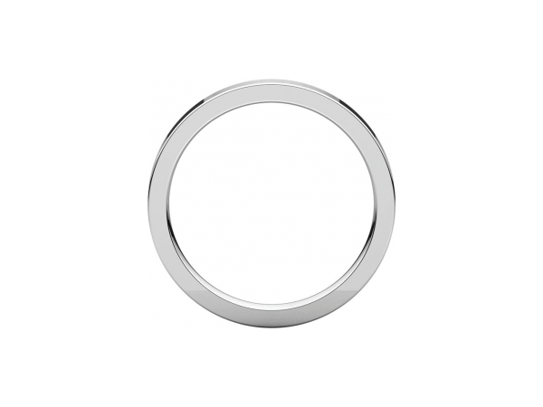 Ladies Wedding Bands - 2.5mm Wedding Band - image #2