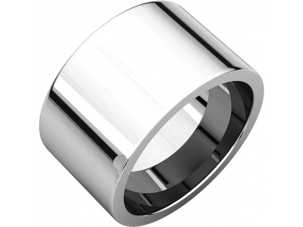 9mm Wedding Band - 10K White Gold 9mm Comfort Fit Engravable Wedding Band