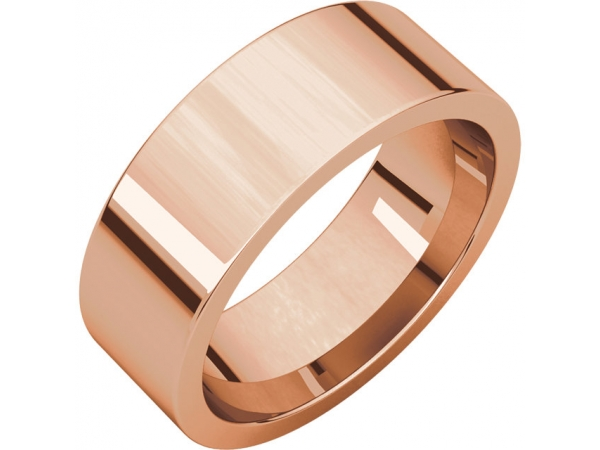 Wedding Bands - Flat Comfort Fit Bands