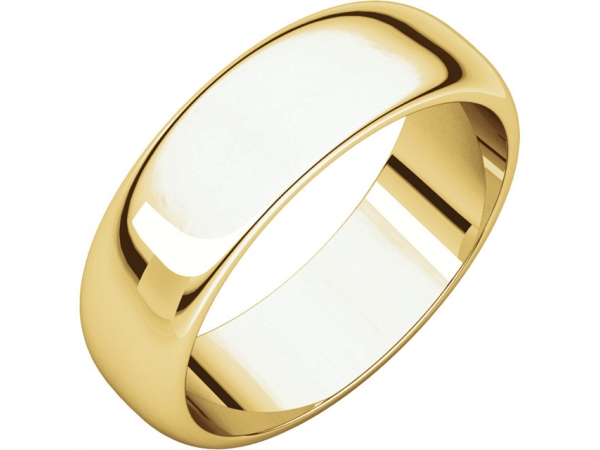 6mm Wedding Band - 22K Yellow Gold 6mm Wedding Band