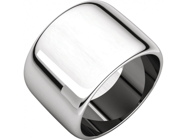 Half Round Bands - Palladium 14mm Half Round Band