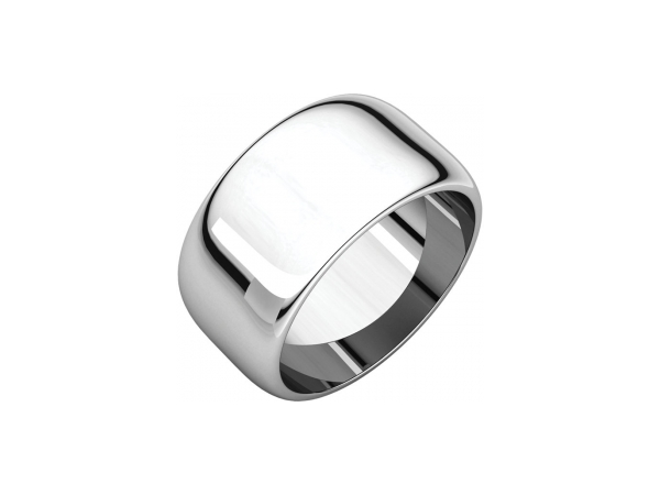 10mm Wedding Band - Palladium 10mm Engravable Wedding Band