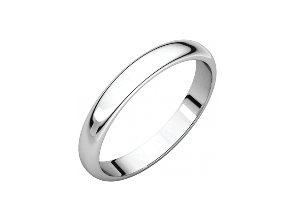 3mm Wedding Band - Sterling Silver 3mm Engravable Wedding Band