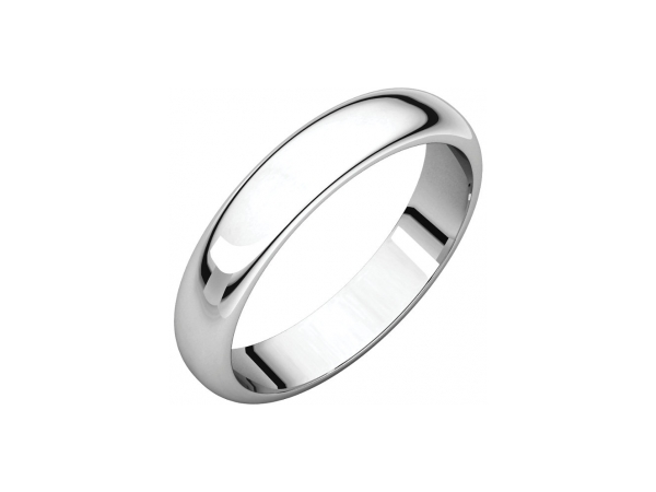 4mm Wedding Band - Sterling Silver 4mm Engravable Wedding Band
