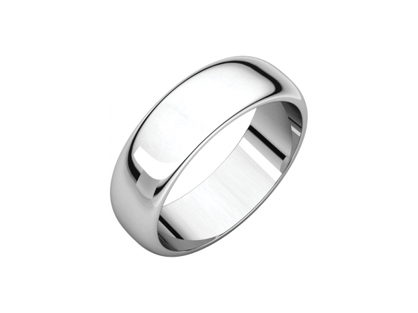 6mm Wedding Band - Sterling Silver 6mm Engravable Wedding Band