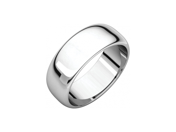 7mm Wedding Band - Palladium 7mm Engravable Wedding Band