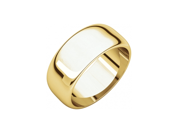 8mm Wedding Band - 14K Yellow Gold 8mm Engravable Wedding Band