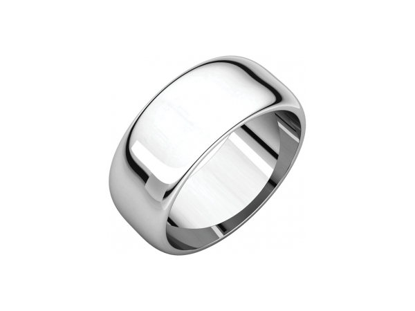 8mm Wedding Band - Palladium 8mm Engravable Wedding Band