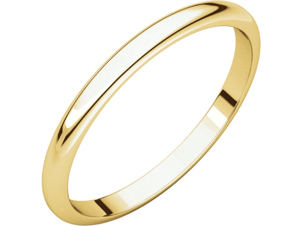 2.5mm Wedding Band - 10K Yellow Gold 2.5mm Engravable Wedding Band