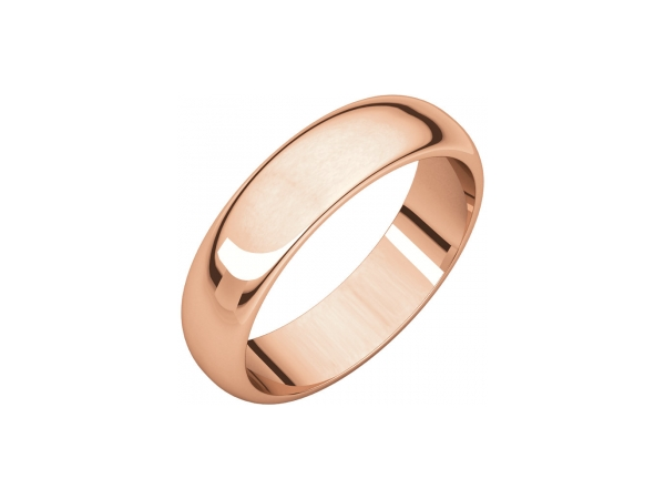 5mm Wedding Band - 14K Rose Gold 5mm Engravable Wedding Band
