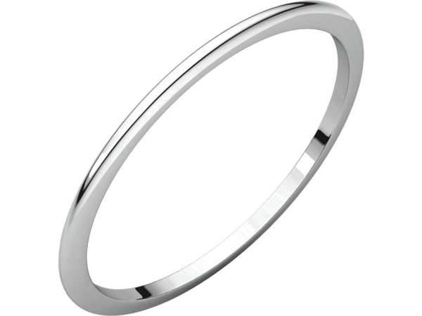 Precious Metal Wedding Bands - 1mm Wedding Band