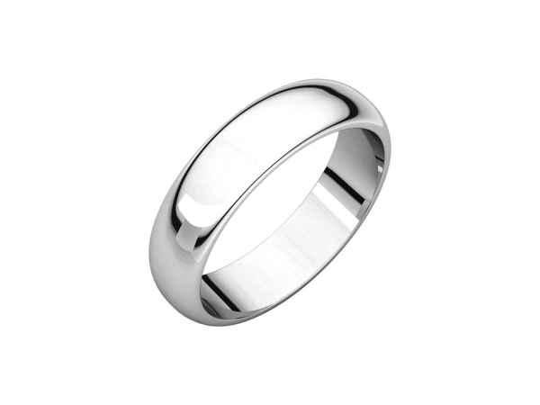 5mm Wedding Band - Sterling Silver 5mm Engravable Wedding Band