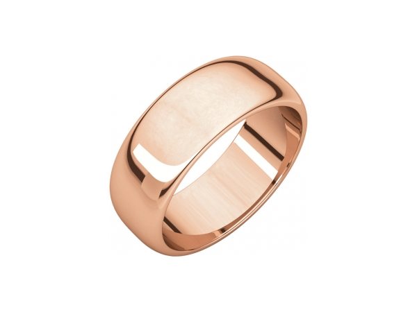 7mm Wedding Band - 14K Rose Gold 7mm Engravable Wedding Band
