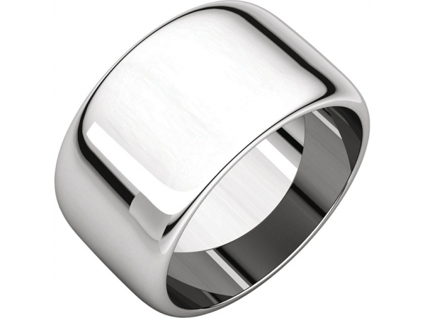 11mm Wedding Band - 18K White Gold 11mm Engravable Wedding Band