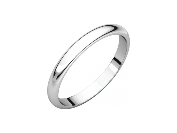 2.5mm Wedding Band - 14K White Gold 2.5mm Engravable Wedding Band