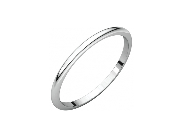 1.5mm Wedding Band - 18K White Gold 1.5mm Wedding Band