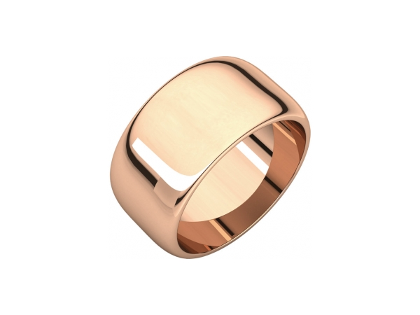 10mm Wedding Band - 10K Rose Gold 10mm Wedding Band