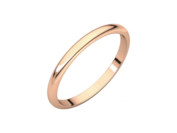 1mm Wedding Band - 10K Rose Gold 1mm Wedding Band