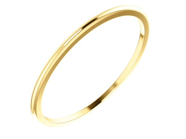 1mm Wedding Band - 18K Yellow Gold 1mm Wedding Band