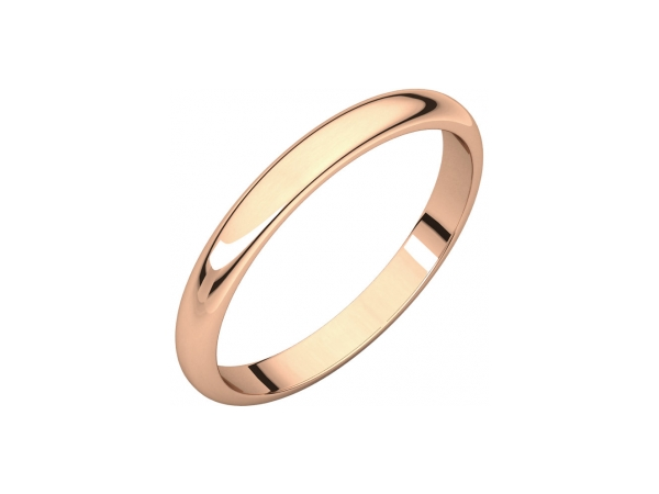 2.5mm Wedding Band - 10K Rose Gold 2.5mm Wedding Band
