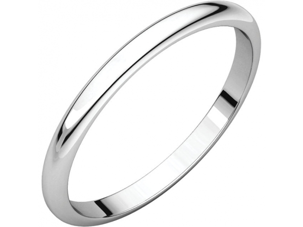 2.5mm Wedding Band - Sterling Silver 2.5mm Wedding Band