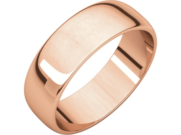 Ladies Wedding Bands - 6mm Wedding Band