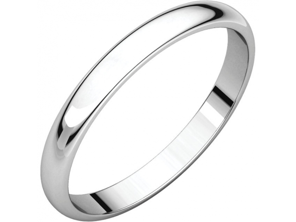 2.5mm Wedding Band - Palladium 2.5mm Engravable Wedding Band